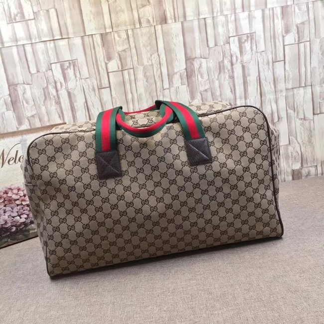 Gucci GG Supreme canvas Travelling bag 146310 brown