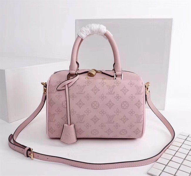 Louis Vuitton Mahina Leather SPEEDY BANDOULIERE 30 M40431 pink