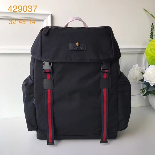 Gucci Techno canvas backpack 429037 black