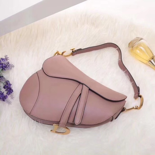 Dior MINI SADDLE BAG IN PINK CALFSKIN M0447 pink
