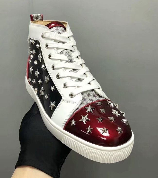 CHRISTIAN LOUBOUTIN Pik Boat glitter leather sneakers CL1035