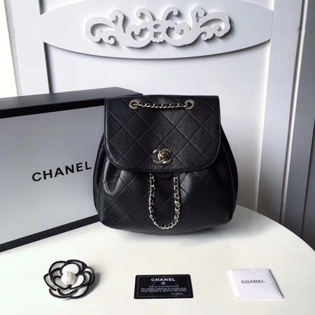 Chanel Backpack Original Cannage Patterns 5697 Black