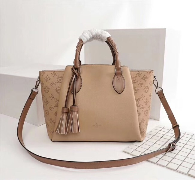 Louis Vuitton Mahina Leather HAUMEA M55030 apricot