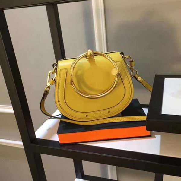 Chloe Small Nile Bracelet Bag Smooth Calfskin C33369 Yellow