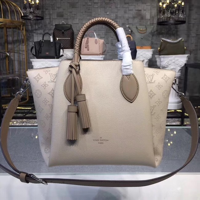 Louis Vuitton Original Mahina Leather HAUMEA M55029 grey
