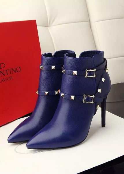 Valentino Ankle Boot Leather VT644 Blue