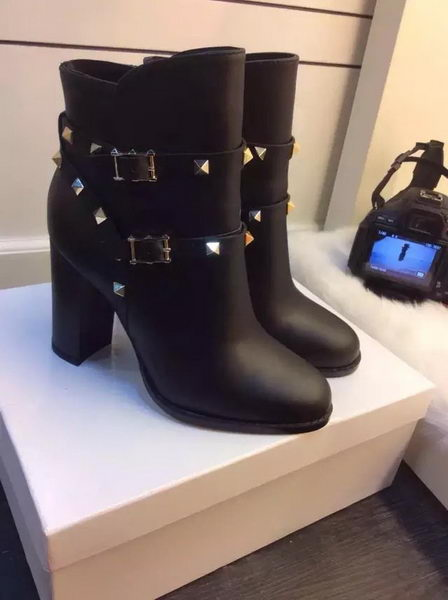 Valentino Ankle Boot Leather VT675 Black