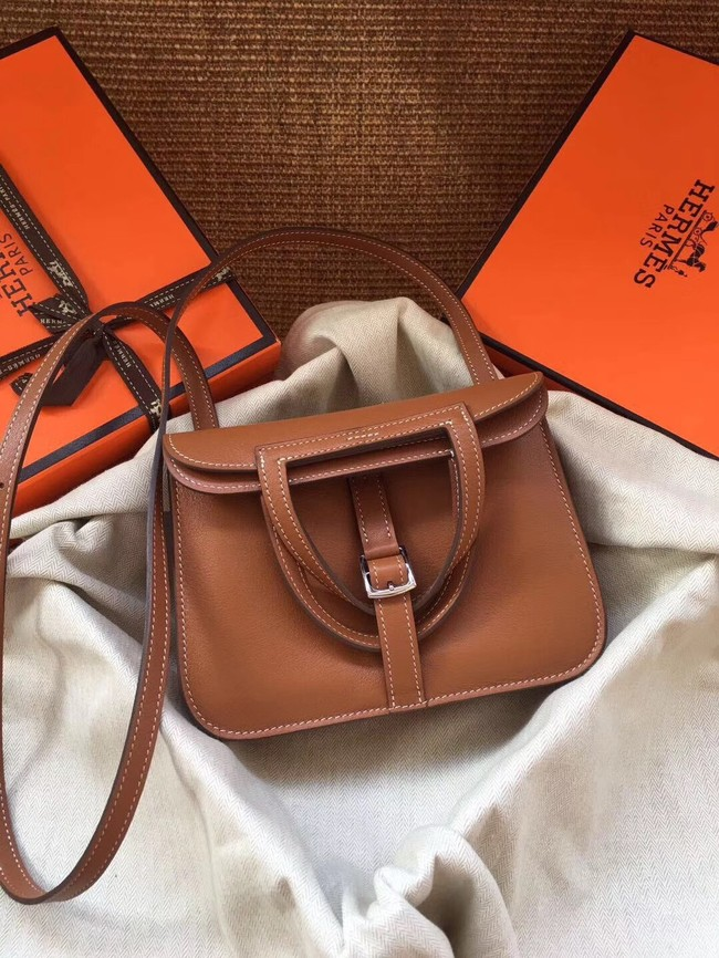 Hermes Original Halzan mini bag H069523 brown