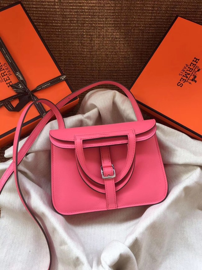 Hermes Original Halzan mini bag H069523 rose azalee