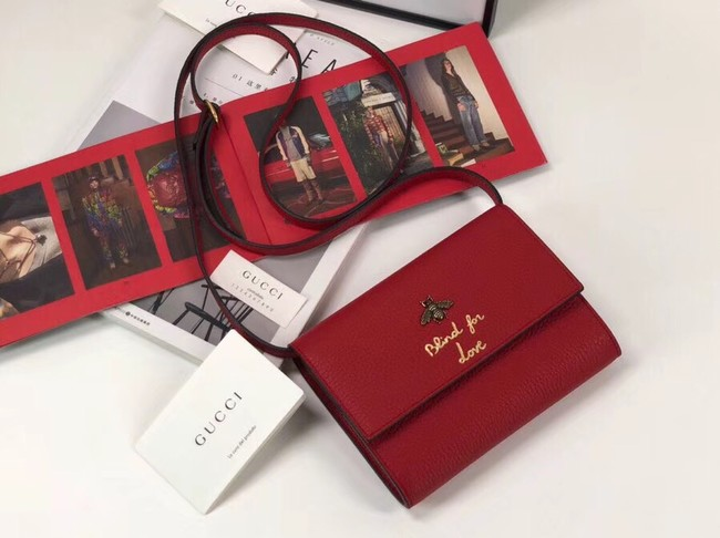 Gucci GG Marmont cross-body bag 498097 red