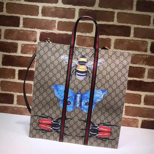 Gucci print soft GG Supreme tote 493610 Butterfly