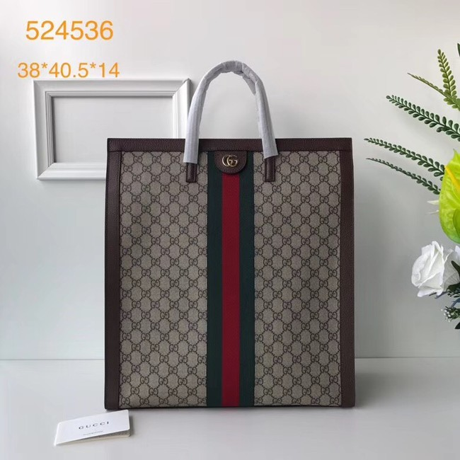 Gucci Ophidia GG medium top handle bag 524536 brown