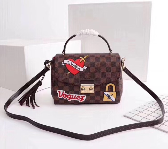 Louis Vuitton Damier Ebene Canvas CROISETTE N40055