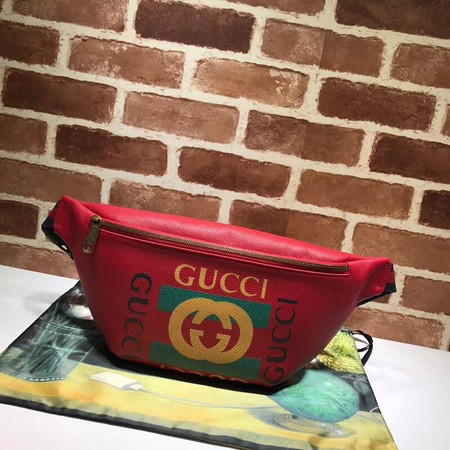 Gucci Calfskin Leather Pocket A493869 Red