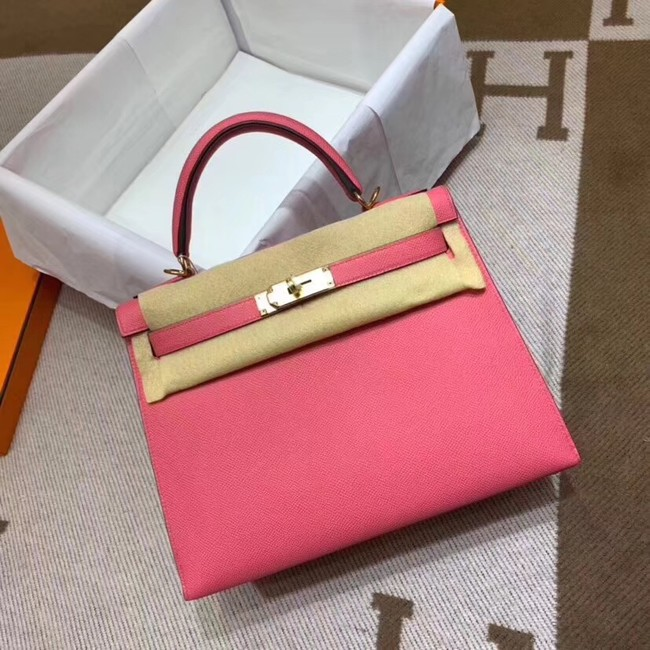 Hermes Kelly 28cm Shoulder Bags Epsom Leather KL28 pink