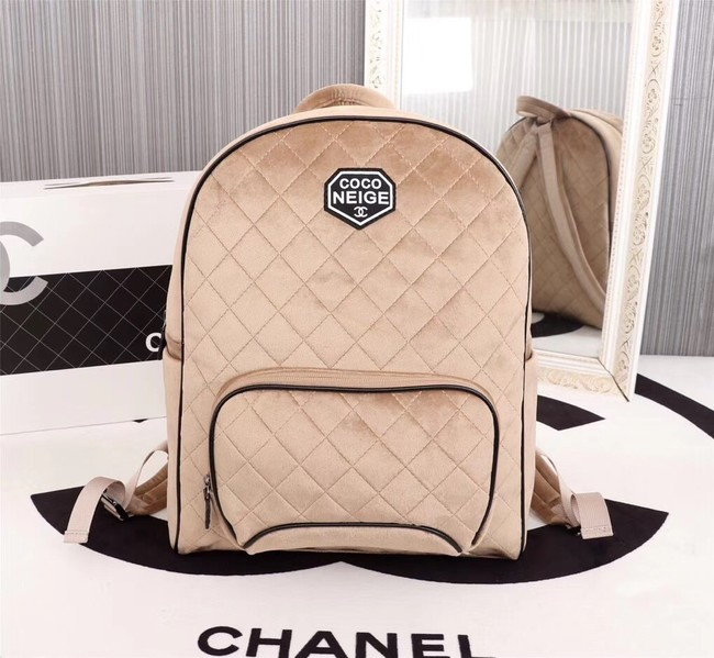 CHANEL Backpack A57594 apricot
