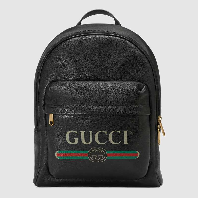 Gucci Print leather backpack 547834 black
