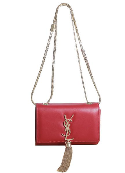 Yves Saint Laurent mini Monogramme Cross-body Shoulder Bag 5478 Red