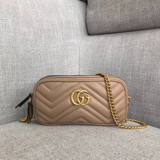 Gucci GG Marmont mini chain bag 546581 Dusty pink