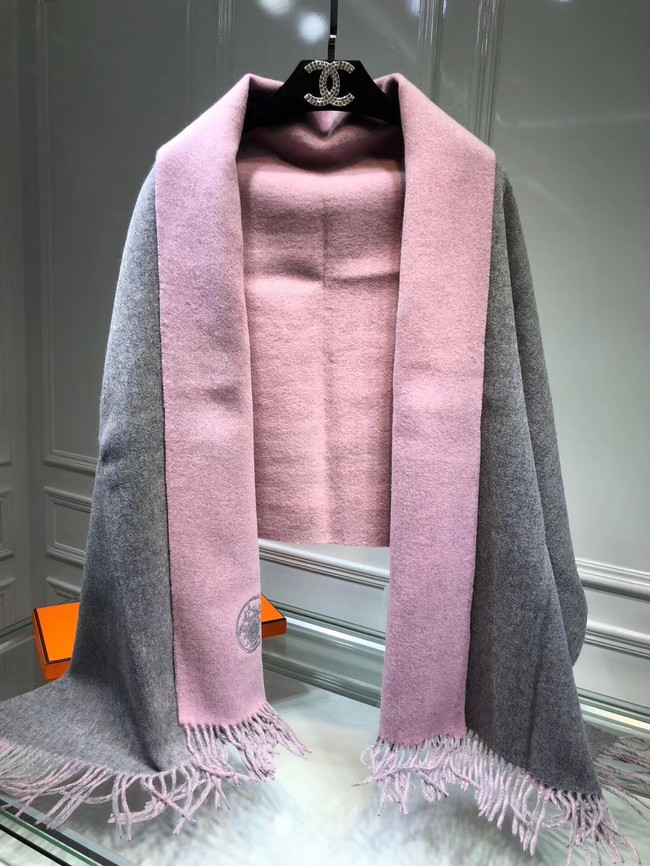 Hermes lambswool & cashmere Shawl 71151 grey