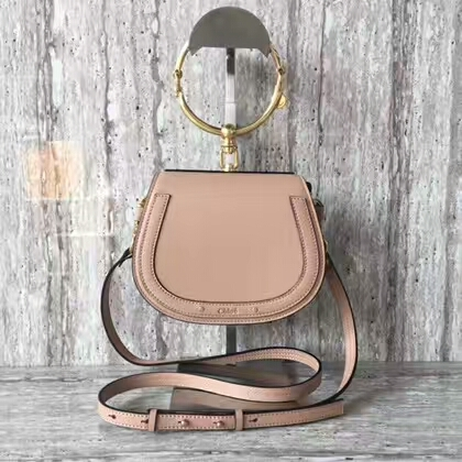 Chloe Nile Calfskin Leather Shoulder Bag A03371 Light Pink