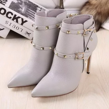Valentino Ankle Boot Leather VT643 Grey