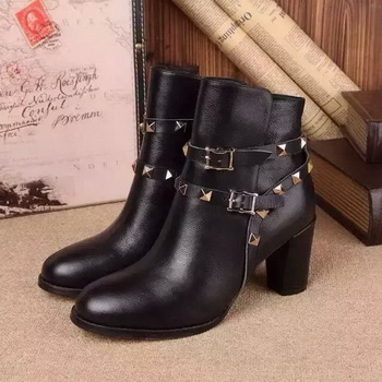 Valentino Ankle Boot Leather VT686 Black