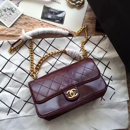 Chanel Classic Flap Bag Sheepskin Leather A33564 Wine