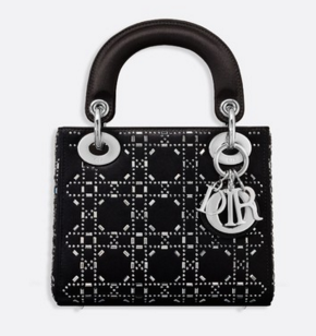 MINI LADY DIOR-TAS VAN SATIJN M0500PRTC BLACK