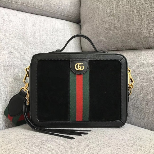 Gucci Ophidia small shoulder bag 550622 Black suede