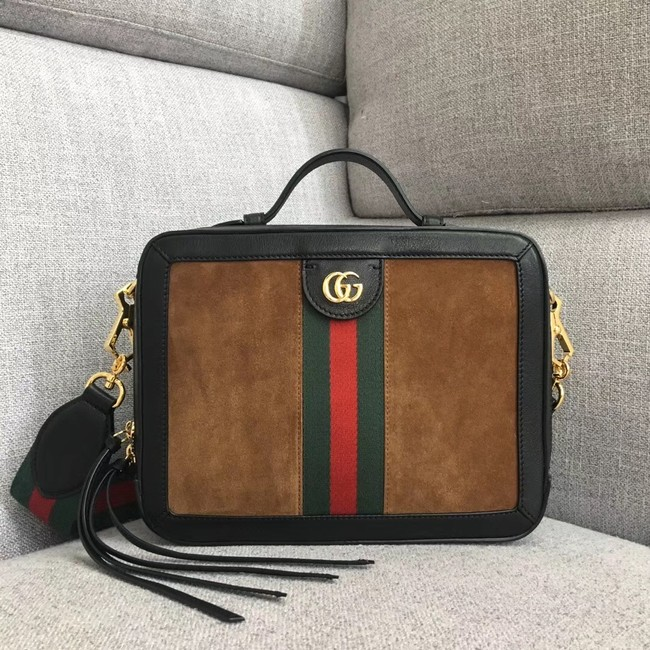 Gucci Ophidia small shoulder bag 550622 brown suede