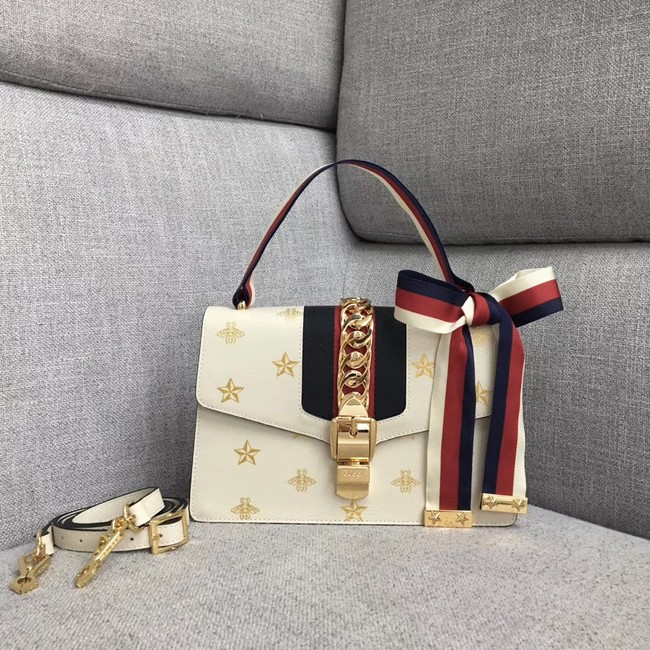 Gucci Sylvie small shoulder bag A421882 white