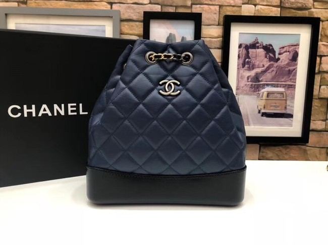 Chanel gabrielle small backpack A94485 dark blue