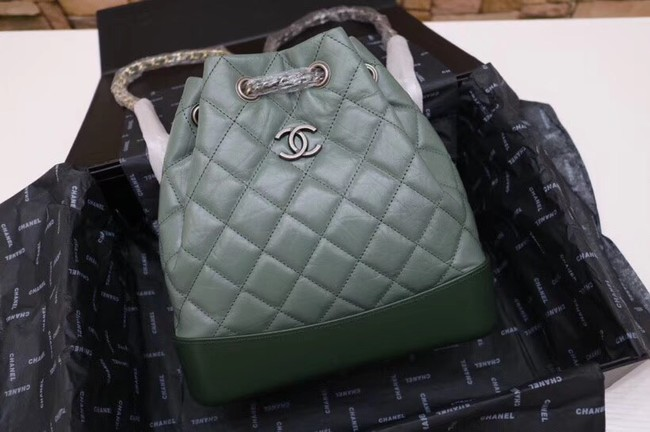Chanel gabrielle small backpack A94485 green