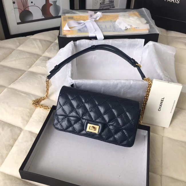 Chanel waist bag Aged Calfskin & Gold-Tone Metal A57991 dak blue