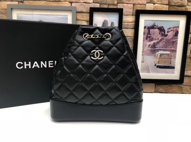 chanel gabrielle small backpack A94485 black