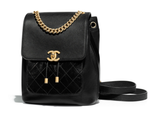 Chanel backpack Grained Calfskin Calfskin & Gold-Tone Metal A57570 black