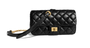 Chanel waist bag Aged Calfskin & Gold-Tone Metal A57991 black