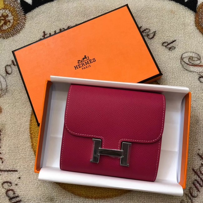 Hermes espom leather Wallet H2297 red