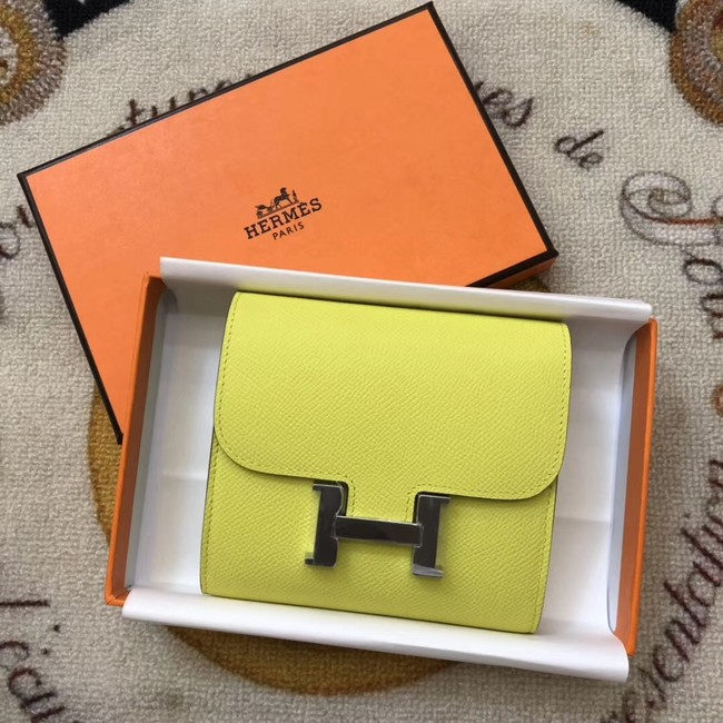 Hermes espom leather Wallet H2297 yellow