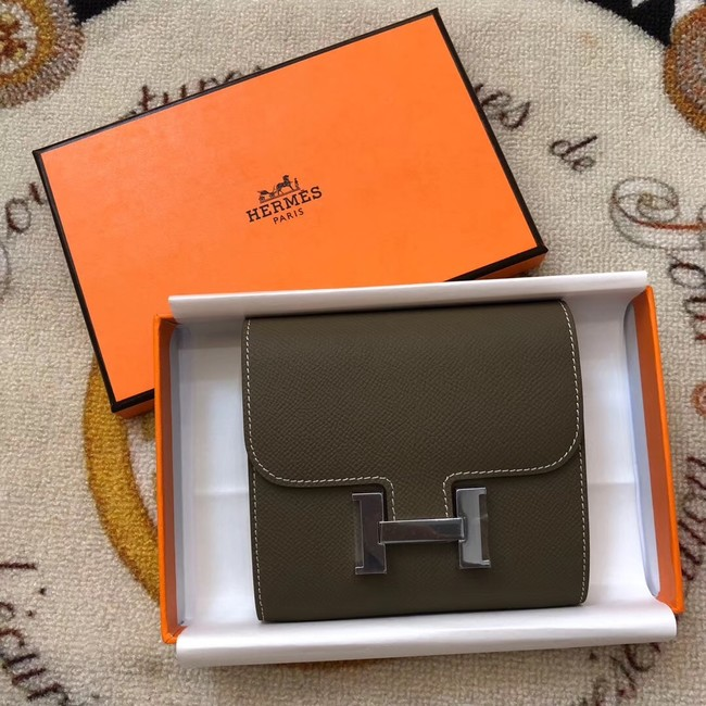 Hermes espom leather Wallet H2297 grey