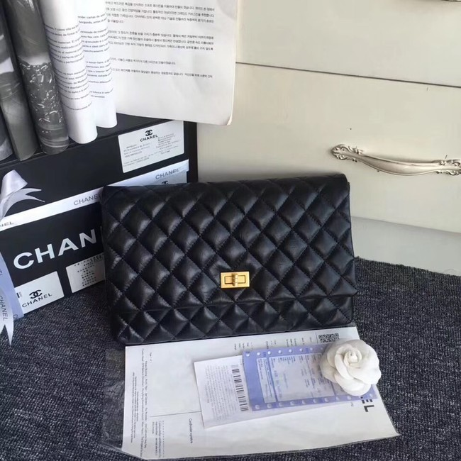 Chanel classic clutch Lambskin & Gold-Tone Metal 35629 black