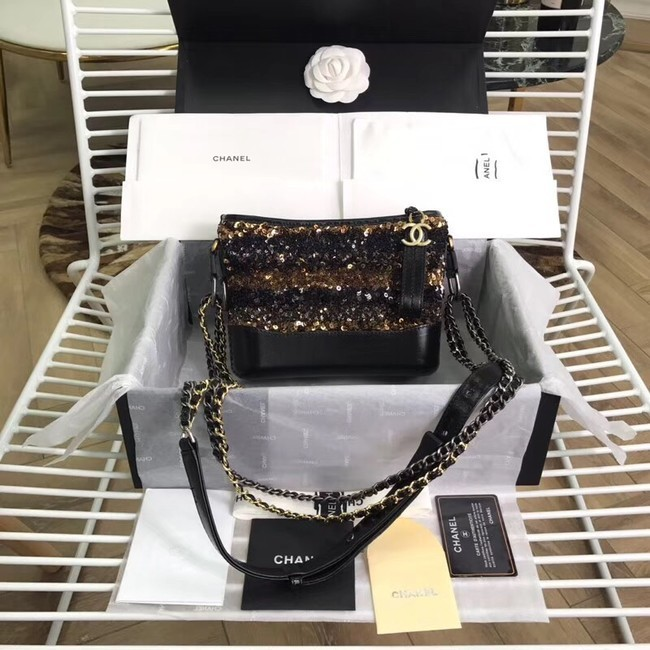 Chanel gabrielle small hobo bag A91810 black&brown