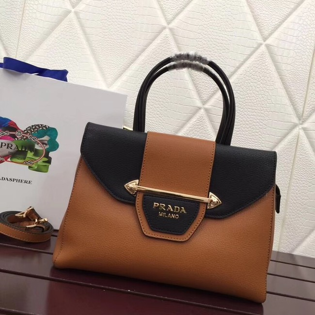 Prada Calf leather bag 13709 brown