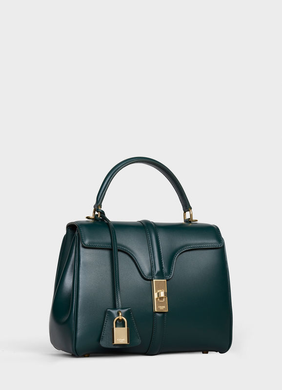 CELINE SMALL 16 BAG IN SATINATED CALFSKIN 188003 GREEN