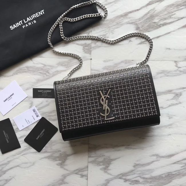 c2536e6778 SAINT LAURENT Kate Monogram leather shoulder bag Y550245 black