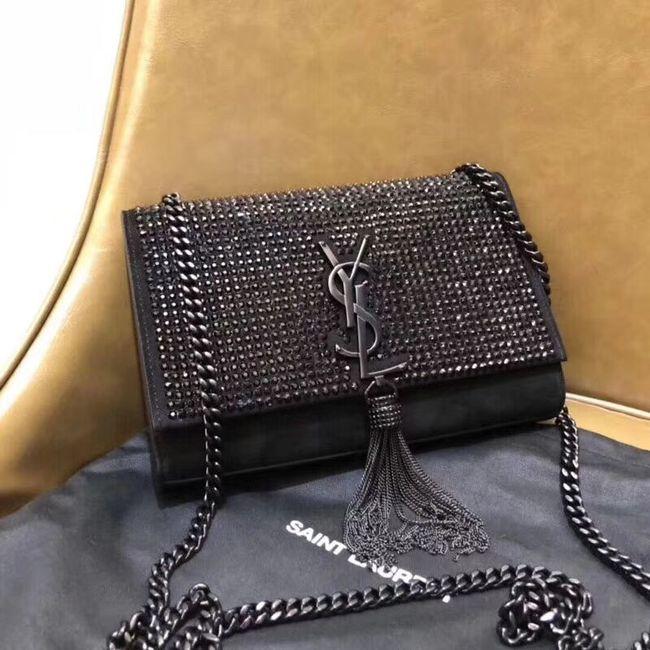 9dfa44b90d SAINT LAURENT leather shoulder bag Y552024 black