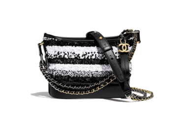 Chanel gabrielle small hobo bag A91810 White & Black