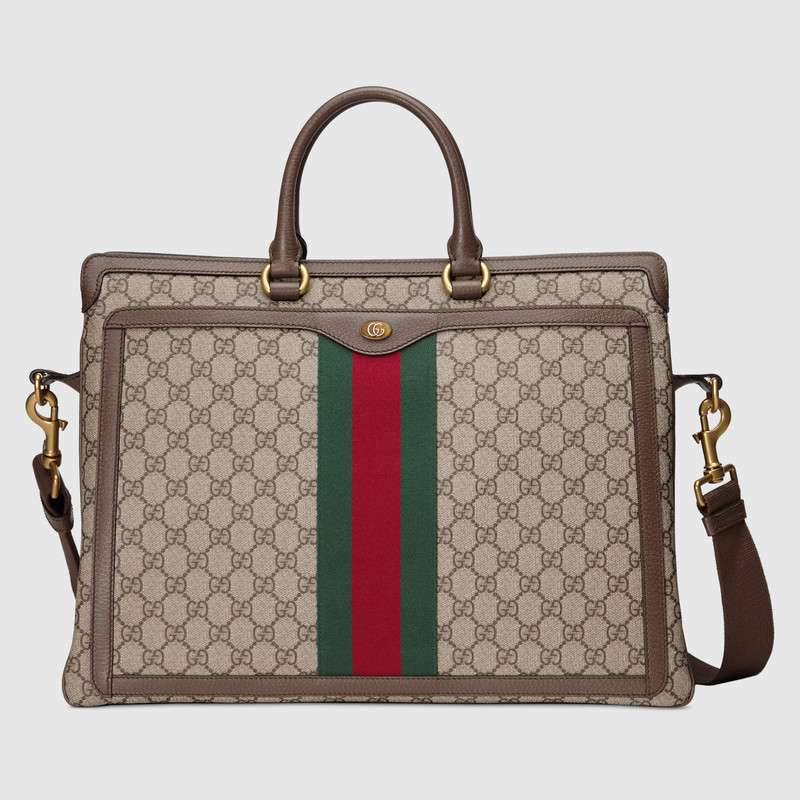 Gucci Ophidia GG briefcase 547970 brown
