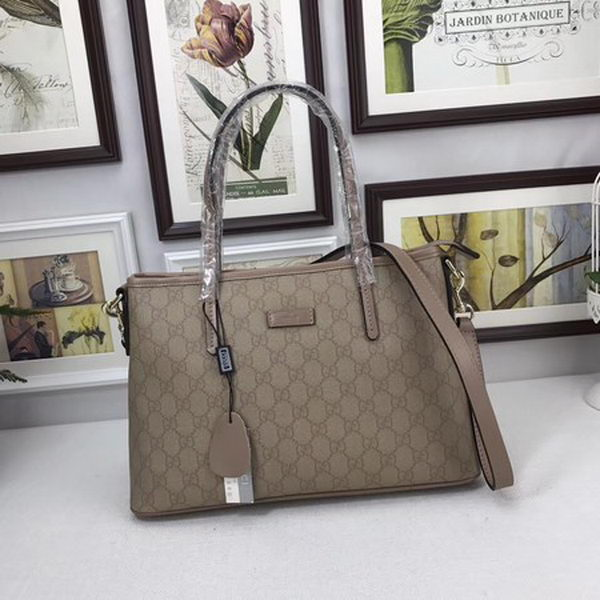 Gucci GG Supreme Canvas Tote Bag 353440 Camel